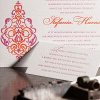 Christening event stationery