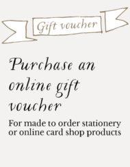 Purchase on online gift voucher