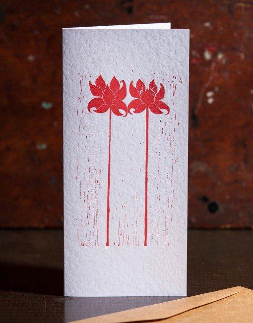 letterpress greeting card