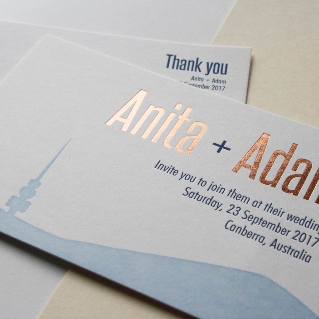 Wedding invites by Artforme